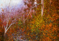 Secret Creek Autumn. 14x21. Watercolor on paper.