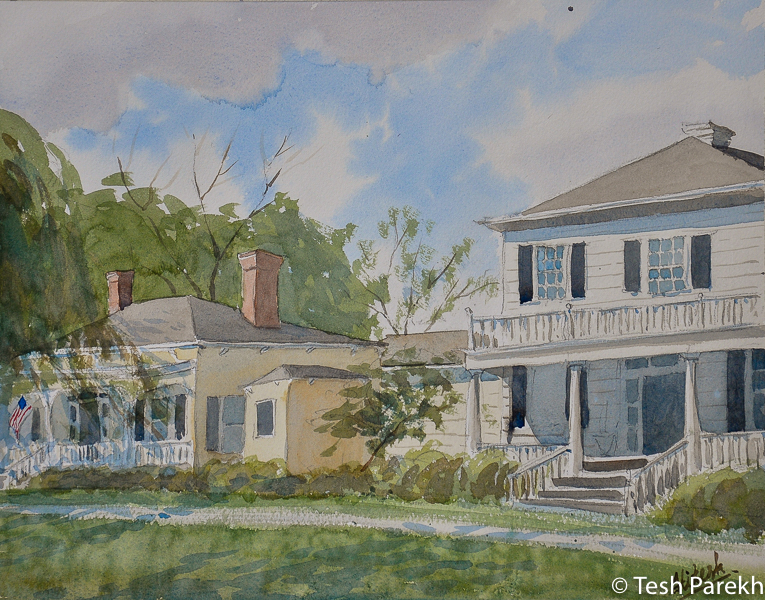 """""""Bay Street, Southport"""". Southport NC paintings. Watercolor on paper. Original sold, prints available"""