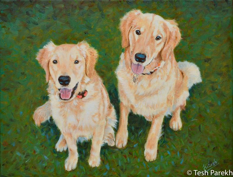 raleigh pet portrait commission painting