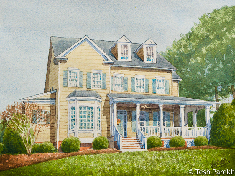 home portrait commission raleigh nc